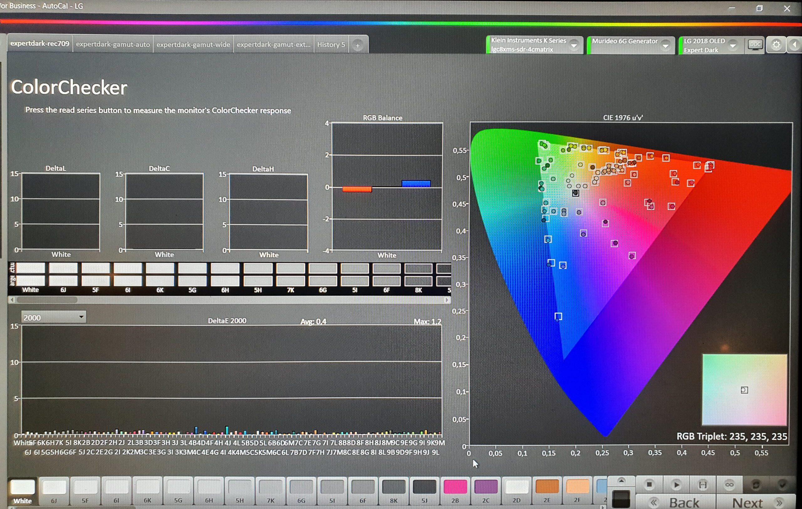 Colorchecker-LG-OLED-Rec709